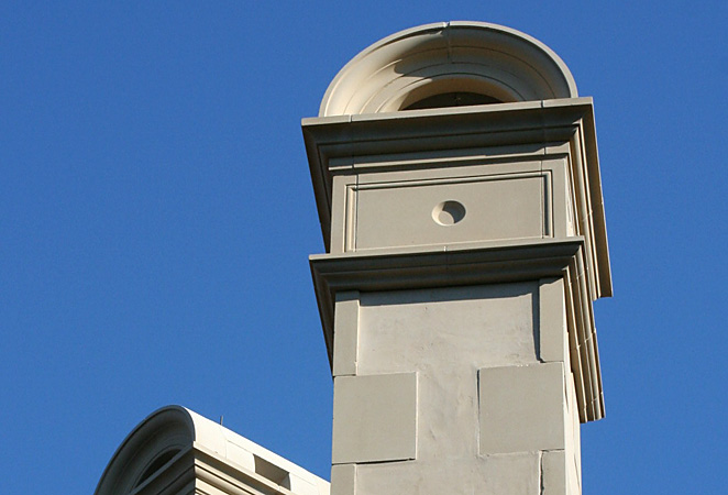 Stone Chimney Caps : Private residence cast stone stucco block